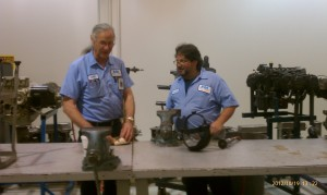 AIM-Manassas instructors, Richard Lewis and Stuart Ehrlich, working on a spar box.