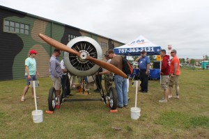 Examining the Nieuport 24 built by aviation career school students