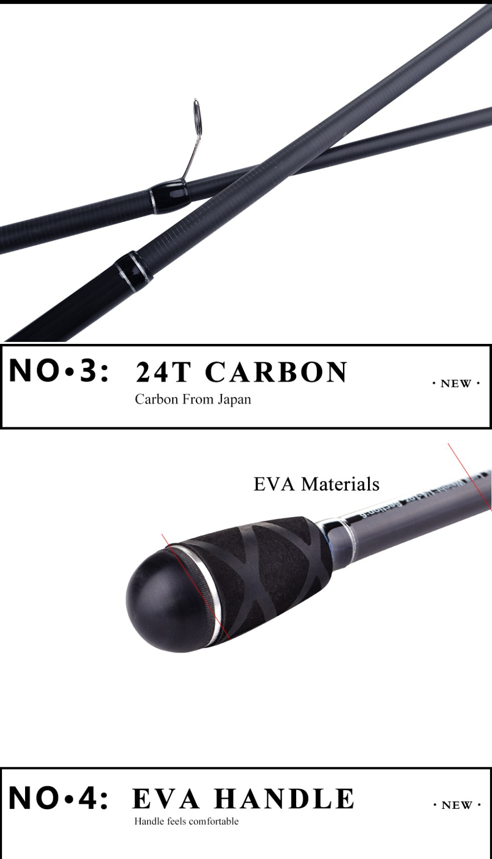 FISH KING 24T 99% Carbon Carp Rod 2.1M/2.4M/2.7M Superhard High Quality Telescopic Fishing Rod Pesca 3