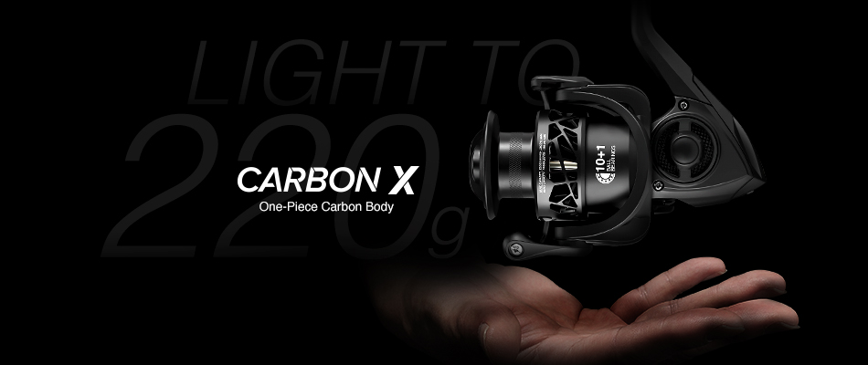 Piscifun Carbon X Spinning Reel Light to 220g 6.2:1 Gear Ratio 11 BB Carbon Frame Rotor 2000 3000 4000 Saltwater Fishing Reel 2