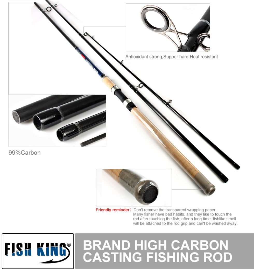 FISH KING Feeder High Carbon Super Power 3 Sections 3.6M 3.9M L M H Lure Weight 40-120g Feeder Fishing Rod Feeder Rod 11