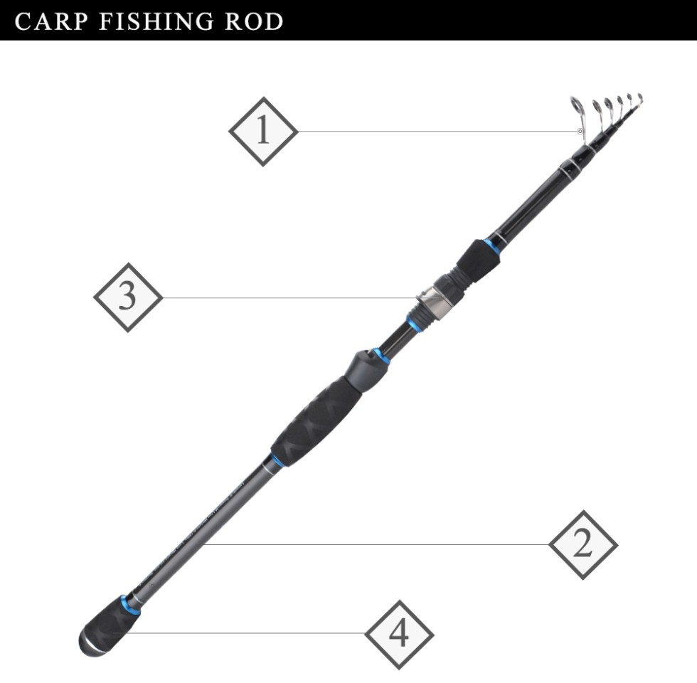 FISH KING 24T 99% Carbon Carp Rod 2.1M/2.4M/2.7M Superhard High Quality Telescopic Fishing Rod Pesca 1