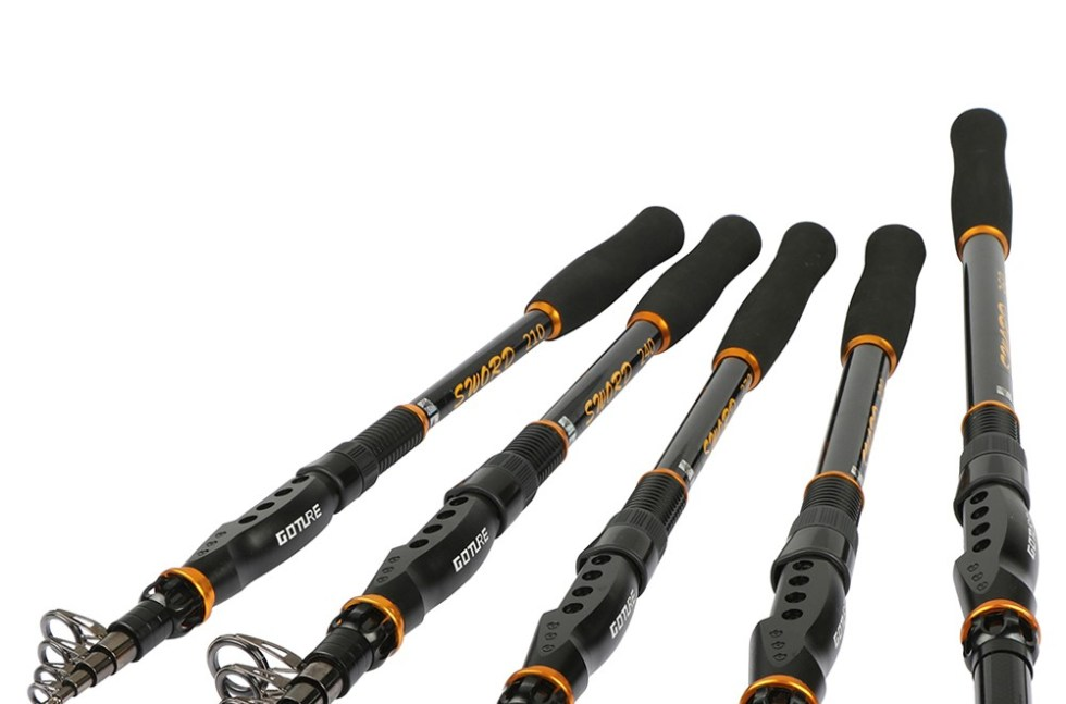 Goture SWORD Series Telescopic Fishing Rod Carbon Retractable 2.1M-3.6M Sea Saltwater Fishing Rod For Trolling Surf Casting 16
