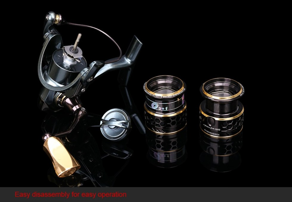 TSURINOYA Jaguar Series 1000 2000 3000 Double Spool Stainless Steel Bearing Ultra-light Lure Spinning Reel Rocky Fishing Reel 21