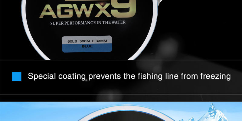 Angryfish 300M 9 strands Super PE Braided Fishing Line Strong Strength Line 9