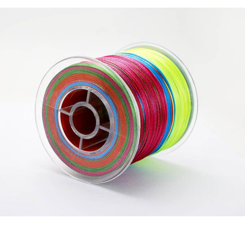 Angryfish 500M 9 Strands Super Multicolor PE Braided Fishing Line Strong Strength Fish Line 8