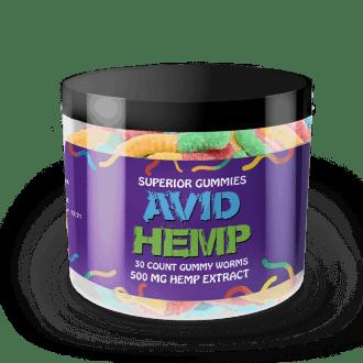 CBD Gummy Worms 500mg Avid Hemp