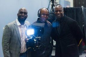 Jonathon Anothy and myself at Black Grad filming