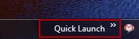 Quick Launch Windows 7 - 3
