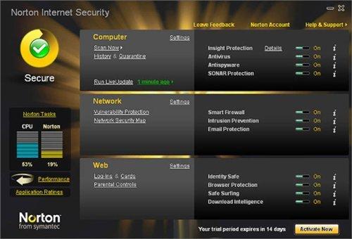 Norton internet security 2010 free