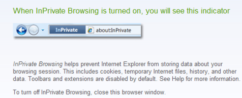 Private browsing IE8 -1