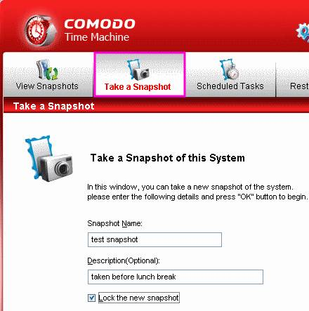 Backup and Restore your System With Comodo Time Machine 2