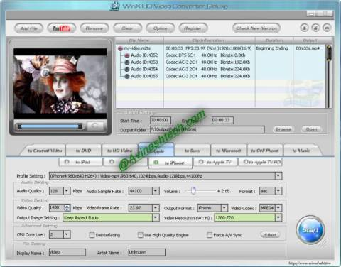 Grab Free WinX HD Video Converter Deluxe for Windows, Mac 3