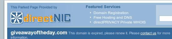 Giveawayoftheday (GAOTD) Domain Expired? 2