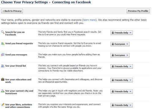 Control basic personal information you share on Facebook 7