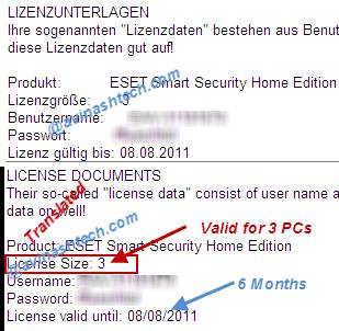 License Eset smart security