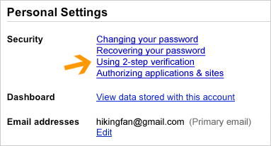 Enable Advanced sign-in security for your Google account 1