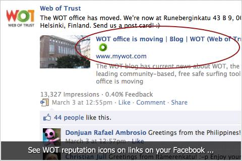 WOT Social: protection from Facebook, twitter bad links (Coming soon) 1