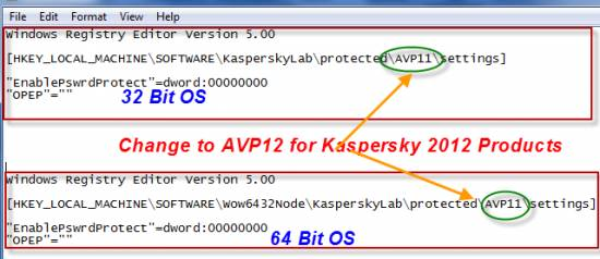 How to reset password for Kaspersky Internet security and Kaspersky Antivirus 4