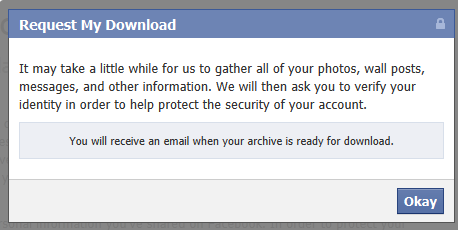 Facebook download email