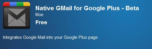 Gmail google+ extension