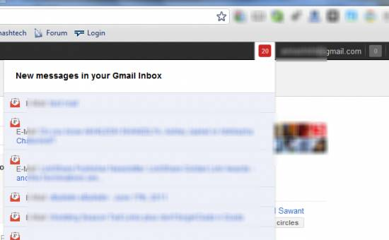 How to add Gmail inside Google+ plus bar using chrome a extension 2