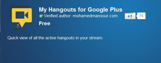See all active hangouts in your Google+ stream with My Hangouts [Chrome Extension] 3