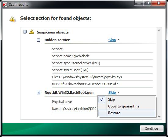 Detect, remove unknown rootkits with Kaspersky Anti-rootkit utility TDSSKiller 4