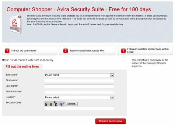 Grab Avira Security Suite free for 180 days 1