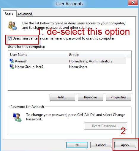 How to enable Automatic login to Windows 8 [Tutorial] 2