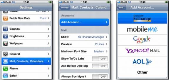 iphone ipad mail settings