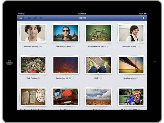 Facebook ipad photo albums