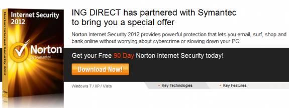 Norton Internet security 2012- 90 days OEM