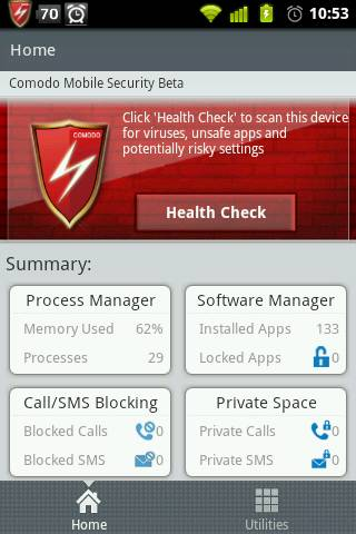 Review: Comodo mobile security with SMS, Call blocker, App locker, phone number locker 9