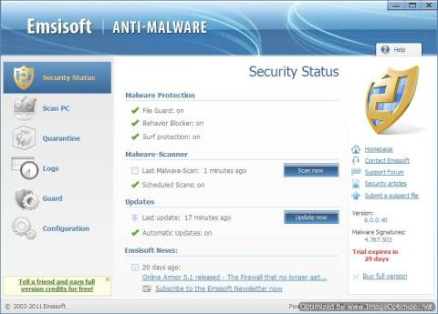 Emsisoft Anti-Malware Review and 25 License Keys Giveaway 2