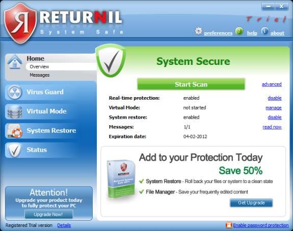 Returnil system secure