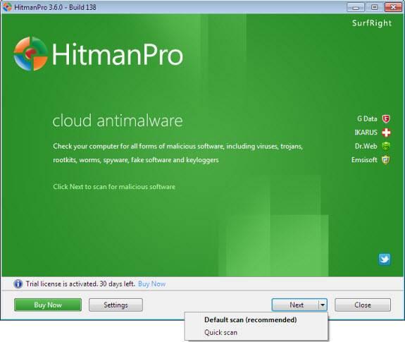 hitman1 - HitmanPro, On-Demand Multi-Antivirus Cloud Scanner [Giveaway]