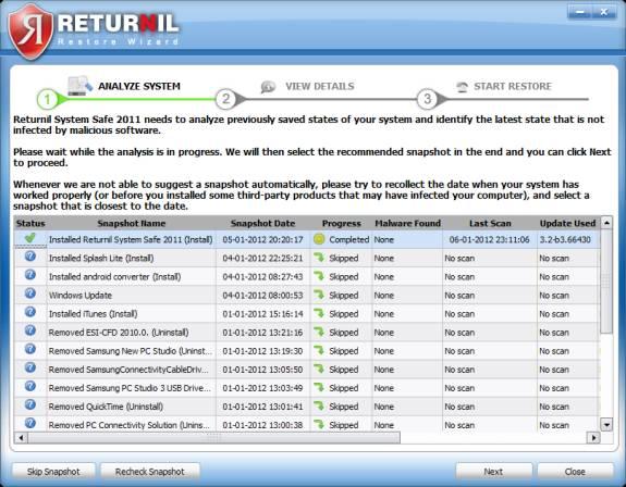returnil system restore