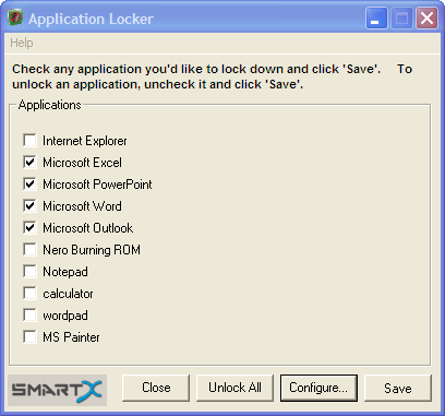 Lock access to programs, applications and their execution 1