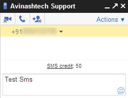 Send free SMS, Text Messages with Gmail Chat 3