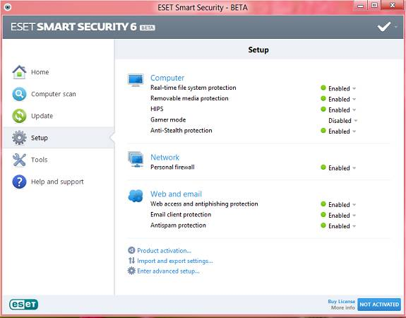 Download ESET Nod32 Antivirus, Smart security Beta with license key for 5 months 2
