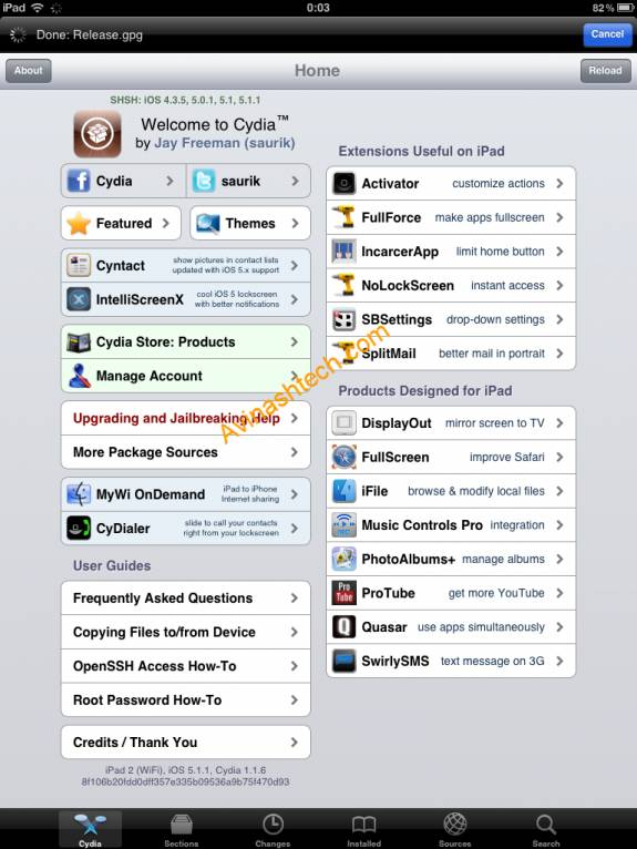 How to Jailbreak iOS 5.1.1 (untethered) on iPhone 4S, iPad 2,3, iPod touch with Absinthe 2.0 6