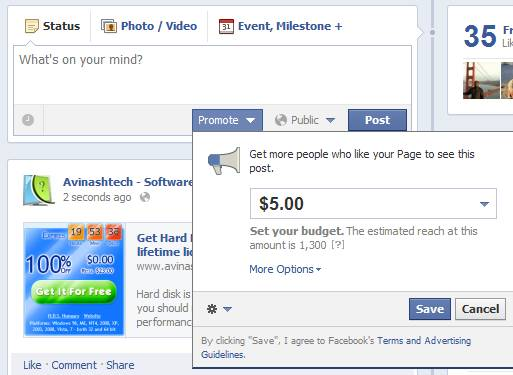 Facebook introduces Promoted Page Posts 3