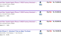 iPhone 5 appears on ebay.in listings starting at Rs 76,000+ 5