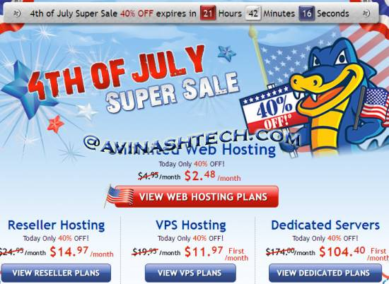 Hostgator 40% OFF, today Only. starts with just 2.48$