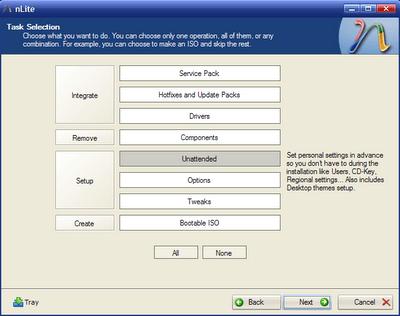 Nlite : Customise your Windows XP – Part 1