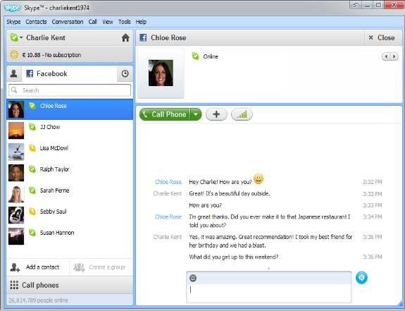 Skype 5.5 - Skype 5.5 with deeper facebook integration released