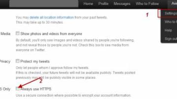 How to enable secure HTTPS on twitter and many others 8