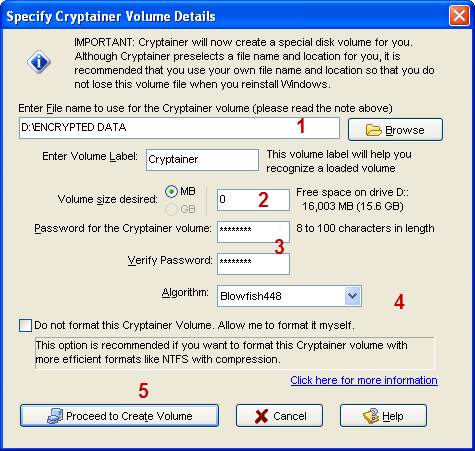 cryptainer1 - Cryptainer: Encrypt your files and Folders with 128 bit Blowfish