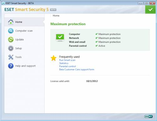 Download ESET Smart Security 5 Beta with Gamer mode and Advanced HIPS